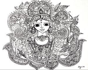 Durga sketch