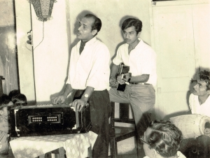 Bhupen Hazarika and Jayanta Hazarika Courtesy : Ruma Baruah (via Bhupen Hazarika Foundation)