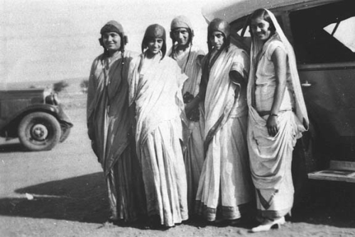Figure 8. Manmohini and friends at the Karachi  airfield, 1931